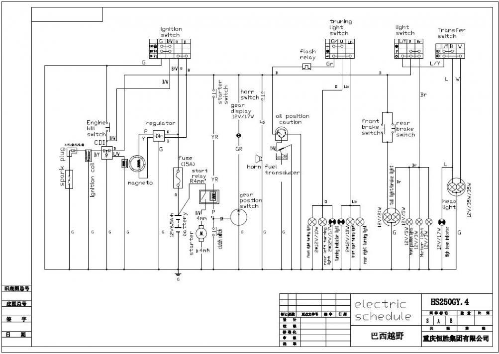 2005 Honda Crf250x Wiring Diagram